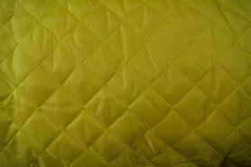 Doorgestikte stof - KN 0168-570 Gestepte voering geel
