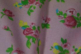 Canvas stof - ptx 943000-11 canvas bloemen roze