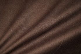 Mondkapjes paneel - NB 1805-055 Katoen (zacht) donkerbruin