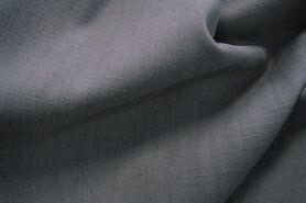Linnen stof - Interieur- en gordijnstof B329303-E5-X linnenlook (breed) grijs
