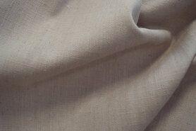 Linnen stof - Interieur- en gordijnstof B103329-VX linnenlook (breed) beige gemeleerd