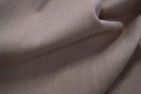 Linnen stof - Interieur- en gordijnstof B103329-V4-X Linnenlook (breed) donkerbeige