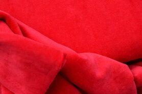 Fluweel stof - NB 3081-015 Nicky velours rood