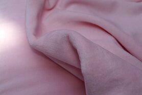 Roze stoffen - NB 3081-012 Nicky velours lichtroze