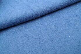 Fleece stoffen - RS 0233-003 Fleece katoen middenblauw