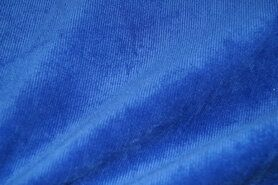 lichte stretch stoffen - NB 1576-005 Ribcord lichte stretch kobalt