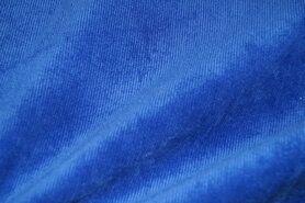 Ribcord en velvet - NB 1576-005 Ribcord stretch kobalt