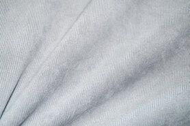 Ribcord en velvet - NB 1576-061 Ribcord stretch lichtgrijs
