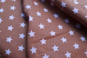 Baldachin - NB 5571-053 Baumwolle Sterne beige