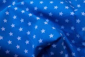 Bedrukt Katoen - NB 5571-004 Katoen ster turquoise