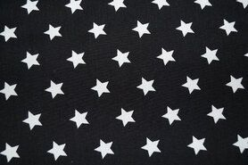 Gedruckte Baumwollgewebe - NB 5571-069 Baumwolle Sterne schwarz