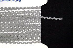 5 mm band - Zigzag band grijs
