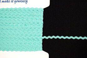 Mintblauw - Zigzag band mint