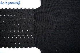 Zigzag band* - Zigzag band zwart