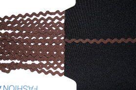 5 mm band - Zigzag band bruin