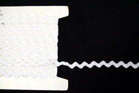5 mm band - Zigzag band wit