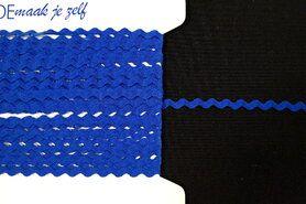 5 mm band - Zigzag band kobalt