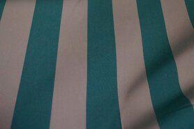 Polyester stof - Buitenkussenstof Teflon Classic 29 gestreept turquoise