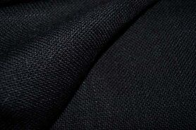 Stugge stoffen - JO 119 Jute zwart