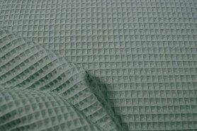 Groene wafelstoffen - KN 0267-321 Wafeldoek oud mint