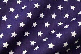 Paarse stoffen - NB 5571-045 Katoen ster paars