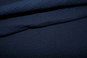 Hydrofiel stoffen - NB 3001-008 Hydrofielstof uni donkerblauw