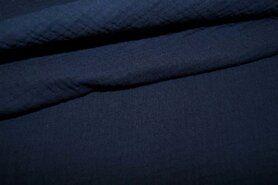Wateropnemende stoffen - NB 3001-008 Hydrofielstof uni donkerblauw
