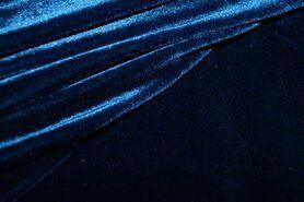 Jersey - NB17/18 3348-008 Samt Trikotstoff dunkel kobalt