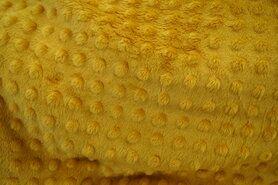 Minky stof - NB 3347-034 Fur Niply mosterd geel