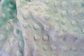 Fluweelachtige stof - KN 0617-320 Fur Niply mint (NB 3347-021)