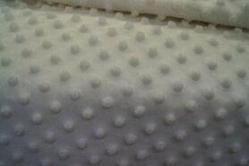 Minky stof - NB 3347-051 Fur nicky Dot off-white (minky stof)