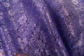 Spitzenstoff kaufen - Spitze lila