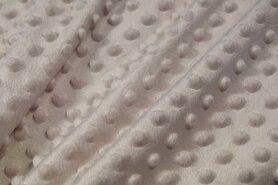 Deken - NB 3347-052 Fur Ninck Dot lichtgrijs (minky stof)