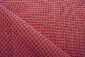 Wafelkatoen - KN 0267-536 Wafeldoek koraal