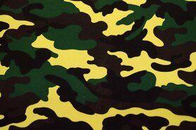 Canvas stof - Ptx18 961081-43 Canvas leger bruin/zwart/geel/groen