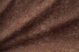 Kunstleer en suedine - NB 8800-058 Suedine donkerbruin