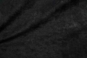 Kunstleder und Suedine - NB 8800-069 Wildleder schwarz
