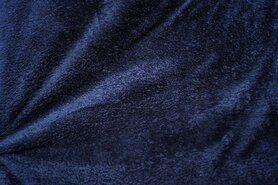 Fleece stoffen - NB 5358-008 Fleece ultra soft donkerblauw