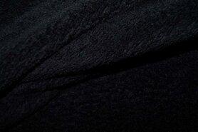 Fleece stoffen - NB 5358-069 Fleece ultra soft zwart