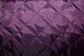 Paarse stoffen - KN 0168-800 Gestepte voering aubergine
