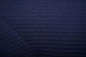 Wafelkatoen - KN 0267-600 Wafeldoek donkerblauw
