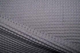 Waffelbaumwolle - KN 0267-985 Waffeltuch grau