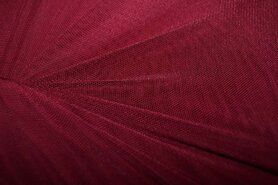 Polyester stof - KN 0695-405 Mesh bordeaux