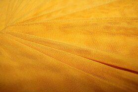 Polyester stof - KN 0695-570 Mesh okergeel