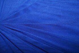 Polyester stof - KN 0695-650 Mesh kobalt