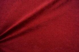 Kunstleer en suedine - NB 8800-018 Suedine warm rood
