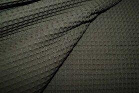 Waffelbaumwolle - KN 0267-0215 Waffeltuch armeegrün