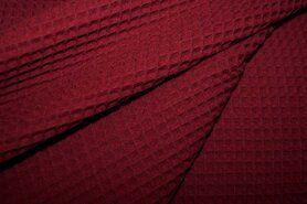 Waffelbaumwolle - KN 0267-400 Waffeltuch bordeaux