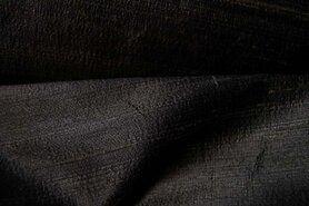 Gordijnstof per meter - NB Dupion zijde zwart