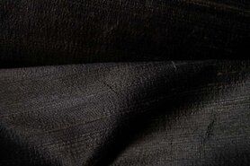 Zijde en zijde-achtig - NB Dupion zijde zwart